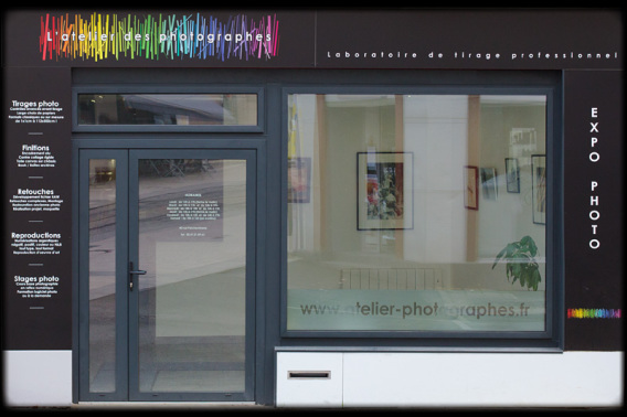 La vitrine de L'atelier des photographes